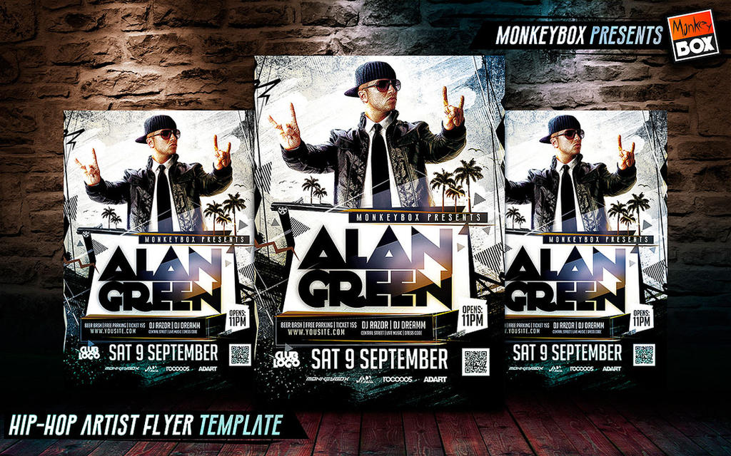 HipHop Artist Flyer Template By Andydreamm On Deviantart