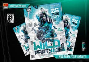 Wild Party Flyer Template by AndyDreamm