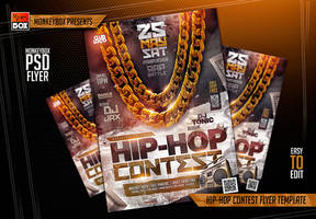 Hip-Hop Contest Flyer Template by AndyDreamm