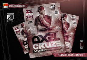 Techno Artist Flyer Template by AndyDreamm