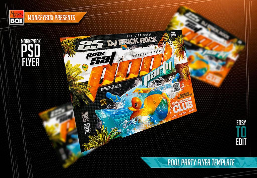 Pool Party Flyer Template By Andydreamm On Deviantart