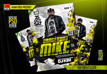 Rap Artist Flyer by AndyDreamm