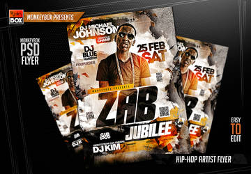 Hip-Hop Artist Flyer by AndyDreamm
