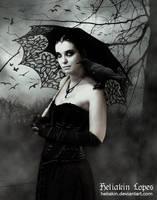Beautiful woman in mourning by Heliakin