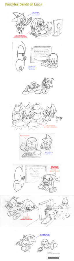 Knuckles Sends an Email - Part 1 - Sketch