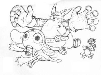 Sgt Frog Has a Big Problem! - Sketch