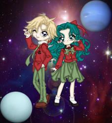 Haruka and Michiru 2.0 by Blackmoonrose13