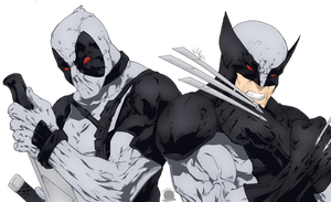 X-force Wolverine and Deadpool