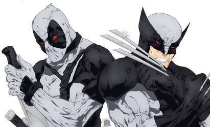 X-force Wolverine and Deadpool by Blackmoonrose13