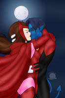 Nightcrawler and Scarlet Witch Forbidden Love by Blackmoonrose13