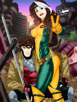 Victory for Rogue and Gambit by Blackmoonrose13
