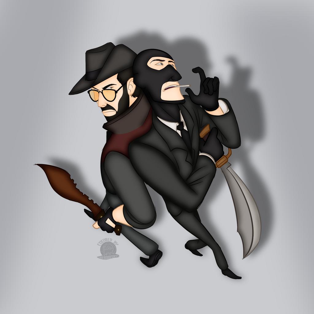 Christian brutal sniper and ninja spy by blackmoonrose13 on deviantart
