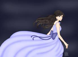 Girl in Periwinkle dress