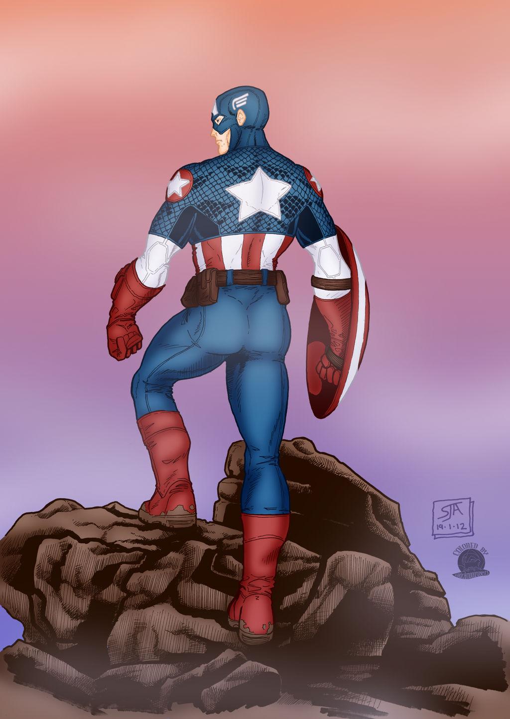 Captain America Ready For Battle