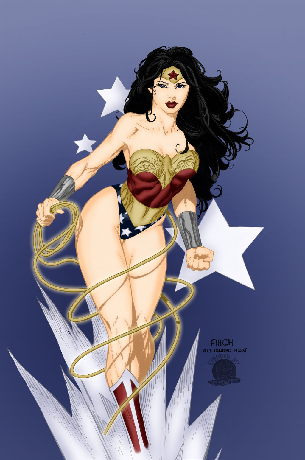 Stars and Spikes Wonder Woman