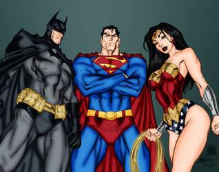 DC Trinity by Blackmoonrose13