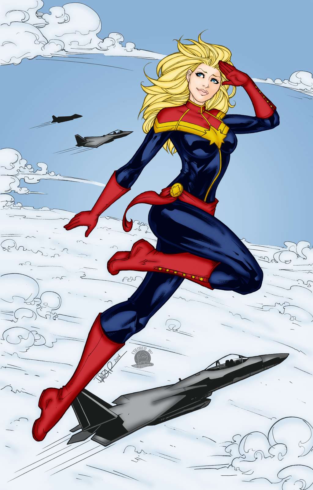Captain Marvel by Blackmoonrose13