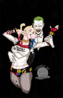 Suicide Squad Joker and Harley Quinn by Blackmoonrose13