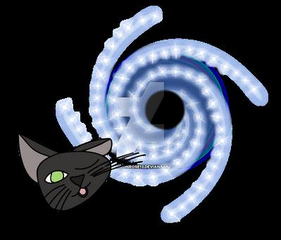 Black Hole Black Cat by Blackmoonrose13