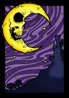 Skull Moon by Blackmoonrose13