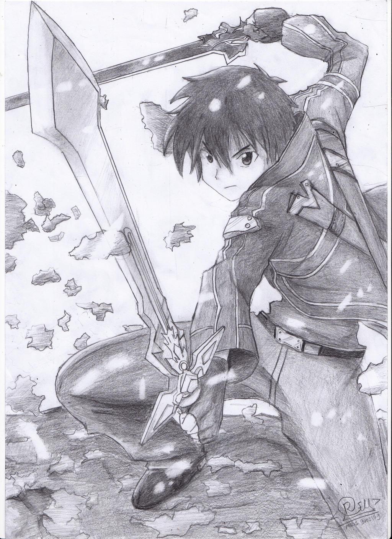 Sword Art Online sketch fanart by MR-Suba on DeviantArt