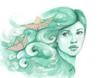 Paper ships by Pendientera