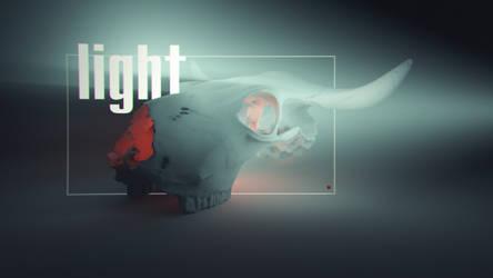 Skull and light