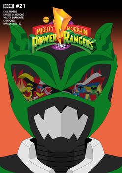 MMPR-21 Alternate Cover with logos