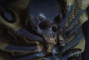 humanoid witch lizard weird monster woman skull by JanuszDolinski