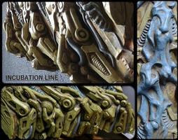 mechanism robot gears machinery factory mech rusty by JanuszDolinski