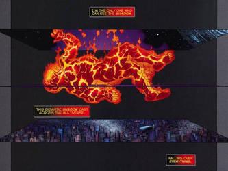 5D True Form Darkseid Falling onto DC Multiverse by Frisk863