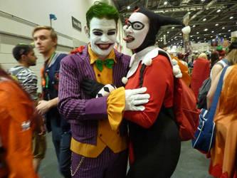 Joker and Harley Quinn.