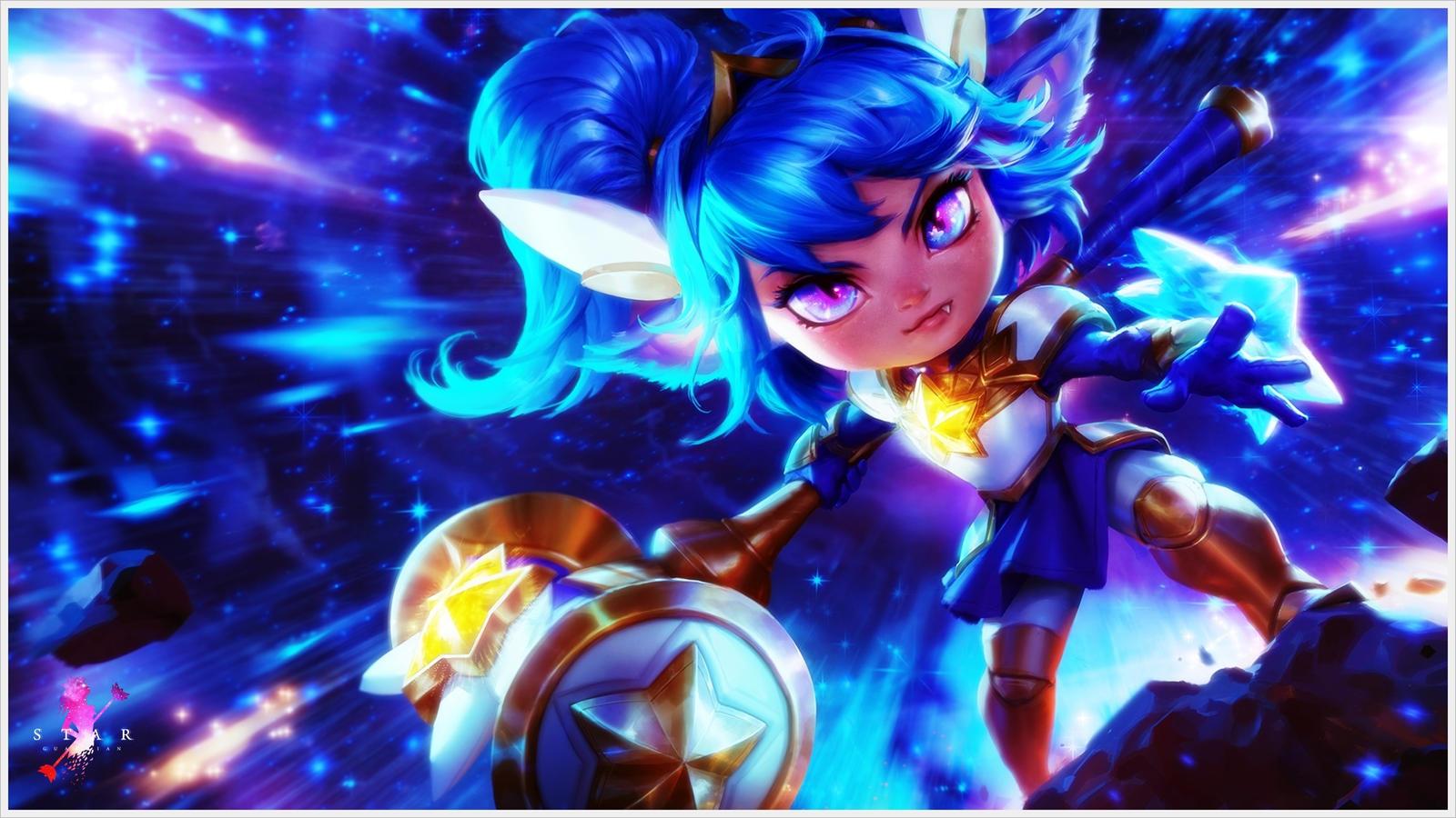 League Of Legends Poppy Wallpaper: [LoL] Star Guardian Poppy (Wallpaper) By PopokuPinguPop90
