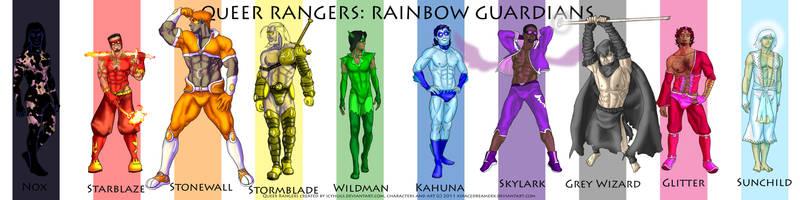 QR Rainbow Guardian lineup by xspacedreamerx