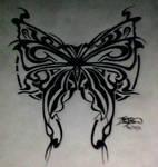 Butterfly Tatoo Drawing 2