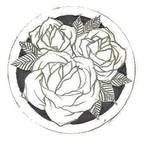 Little Three Rose (earring template)