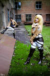 Ymir and  Historia cosplay