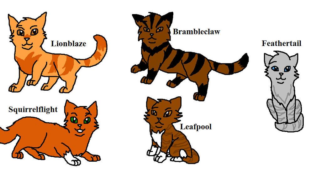 Warrior Cat Names In Warrior Cat Books