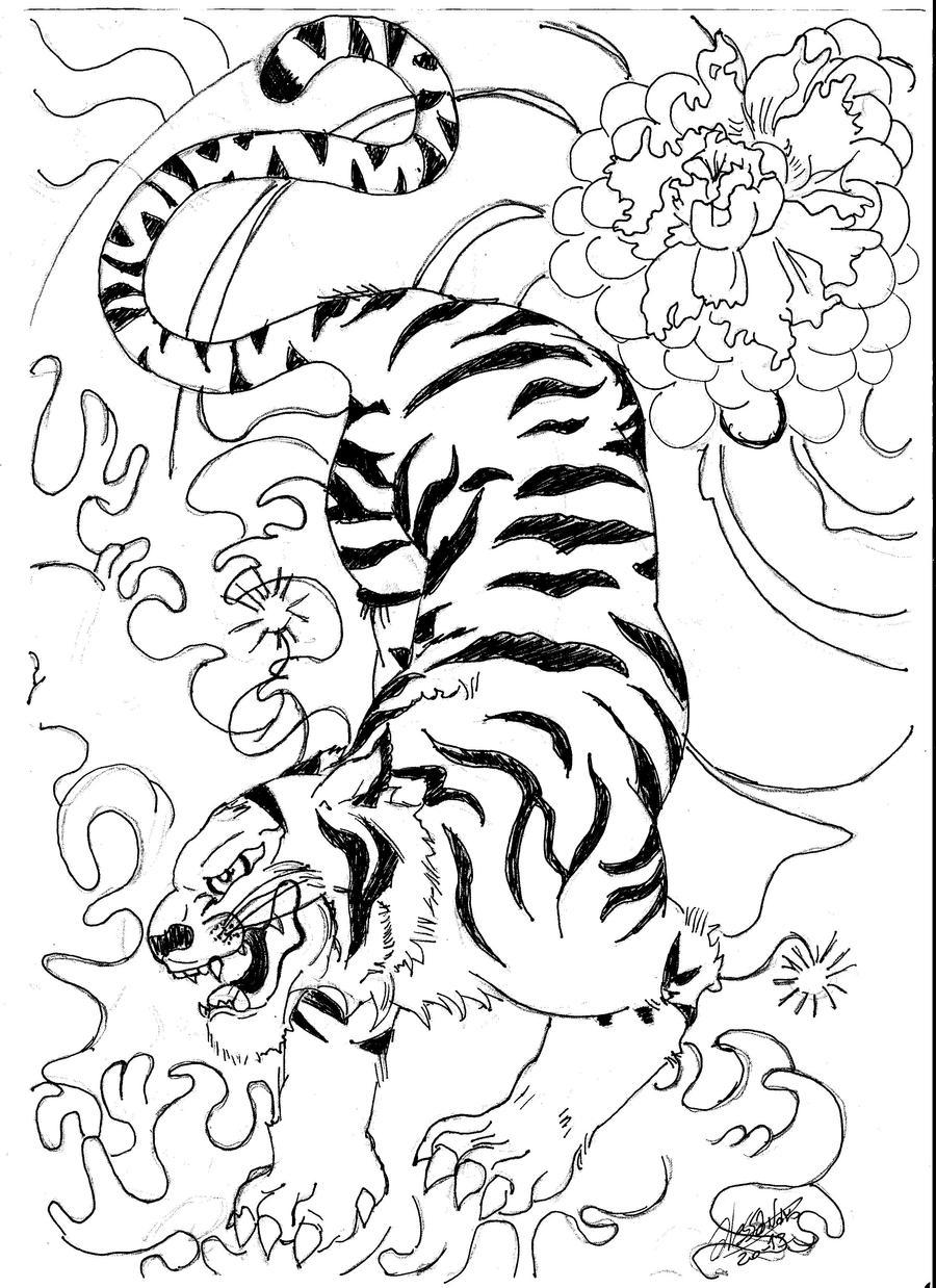 Tiger Tattoo by Alestefani on DeviantArt