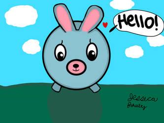 Oshaberi Doubutsu/Jabber Ball Rabbit toy drawing