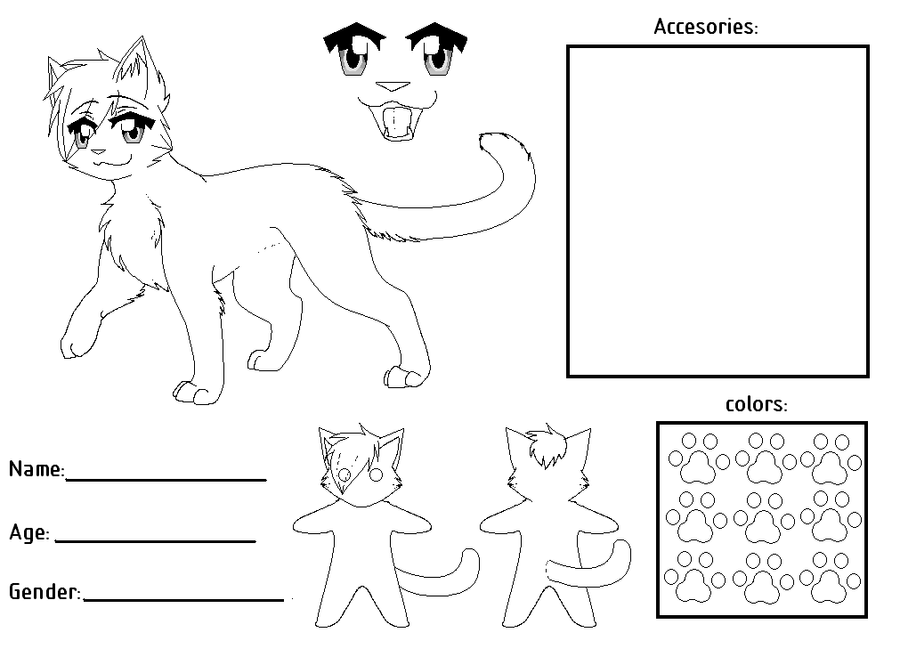 Fursona Ref Sheet Base