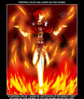 High Wizard in Flames. Evil XD by fire-doused
