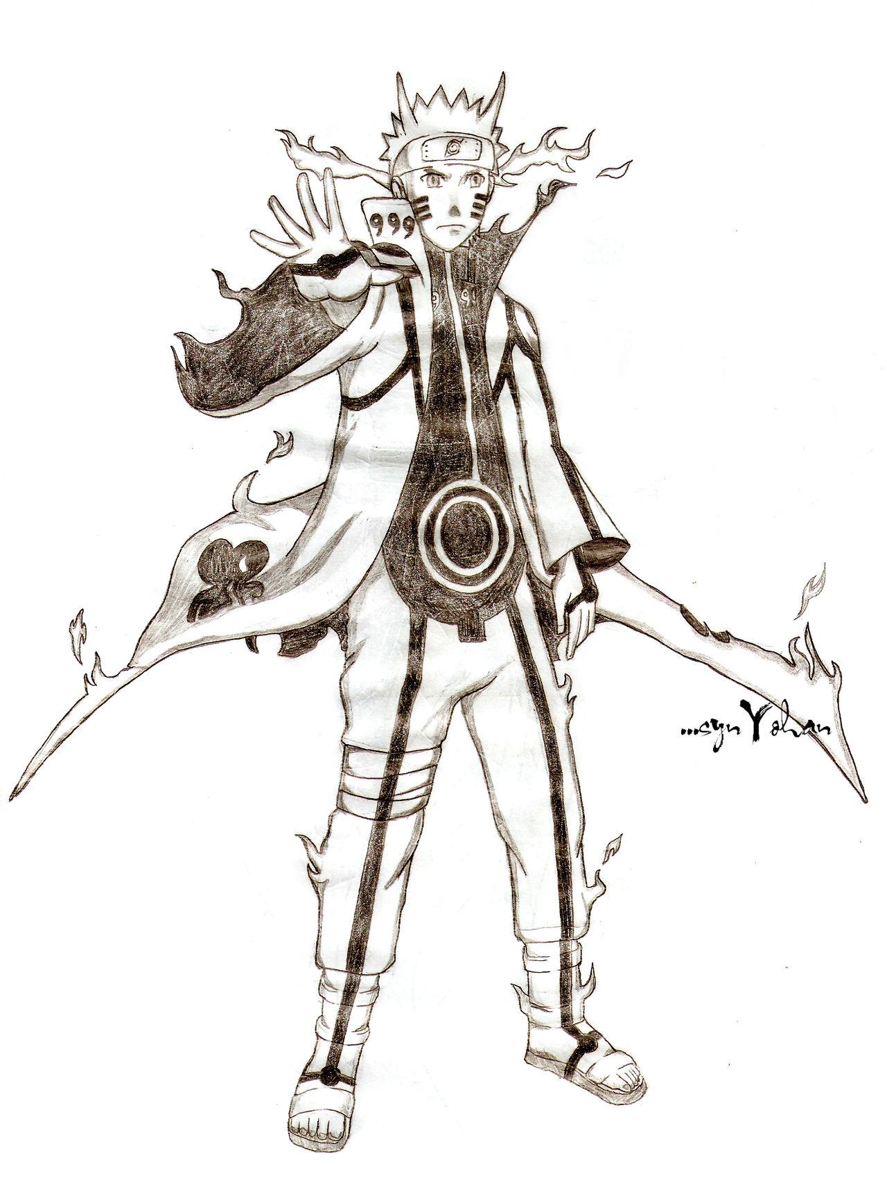 Naruto Nine Tails Chakra Mode Naruto Shippuuden By Synyohan On Deviantart