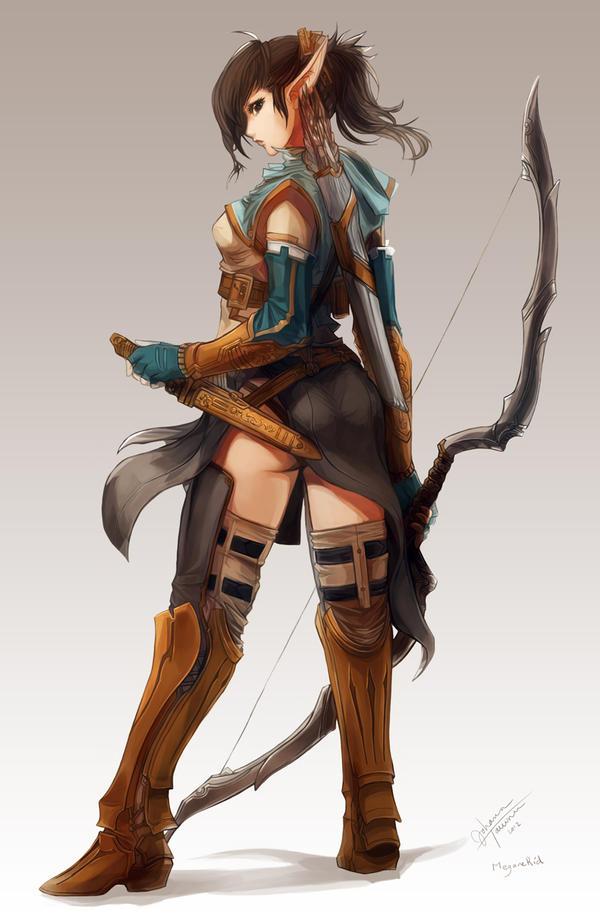 Elven Ranger Aniera by juuhanna