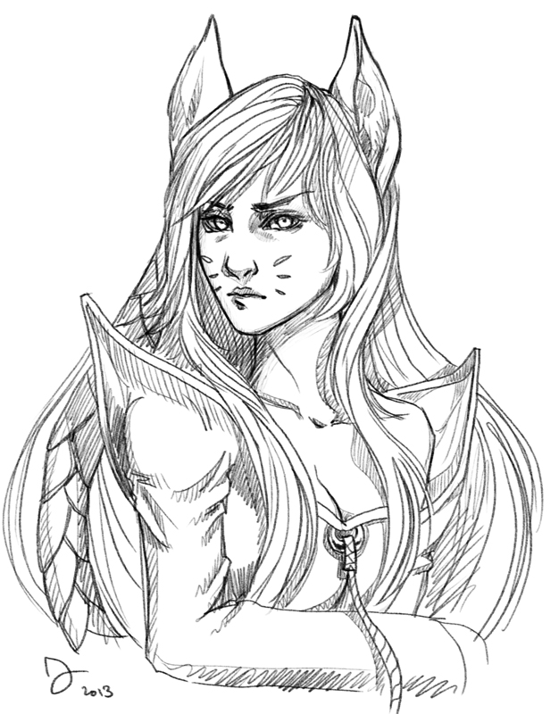 AHRI - sketch by juuhanna