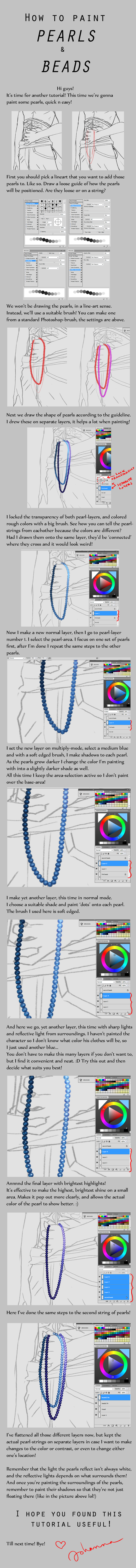 How to paint Pearls by juuhanna