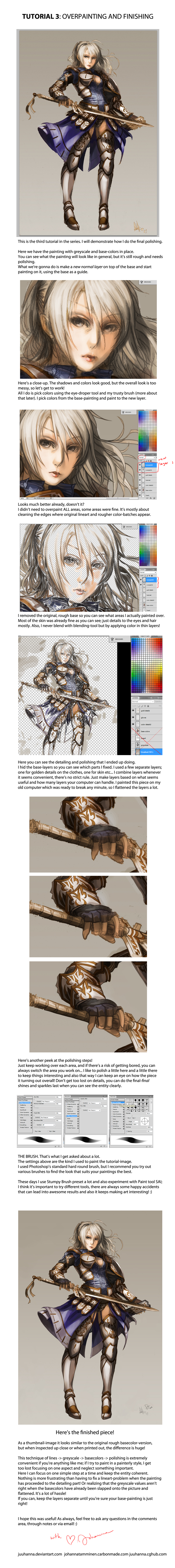 TUTORIAL 3: Overpainting and Finishing by juuhanna