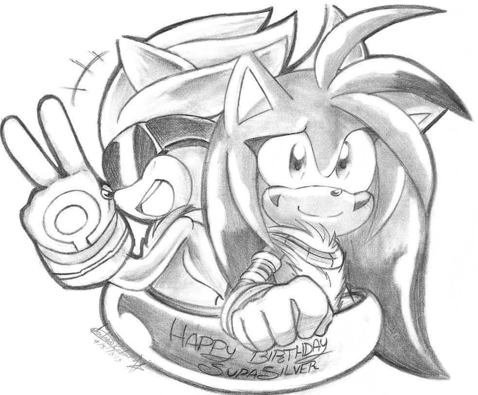 Happy B-Day SupaSilver ! ! by andreahedgehog