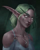 NIght elf Portrait by loldrui