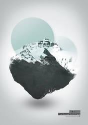 Mount Everest Illustration Art by dp-illustrations